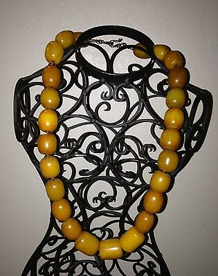 Beautiful Morrocan Amber Bead 28 in Necklace 200 grams -