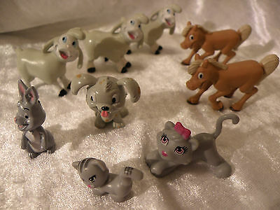 Disney Animals Lot Of 9 Play Figures Or Cake Toppers Nice See Pictures