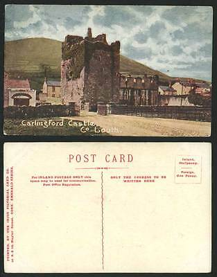 Northern Ireland, Carlingford Castle Ruins, Co. County Louth, Old Irish Postcard