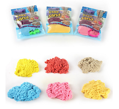 Colored Magic Space Sand Educational DIY Indoor Magic Play Sand Kids Toys 100g