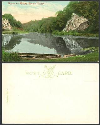 Ireland Co. Louth Old Postcard Beauparc Rocks Boyne Valley River, Boat, Drogheda