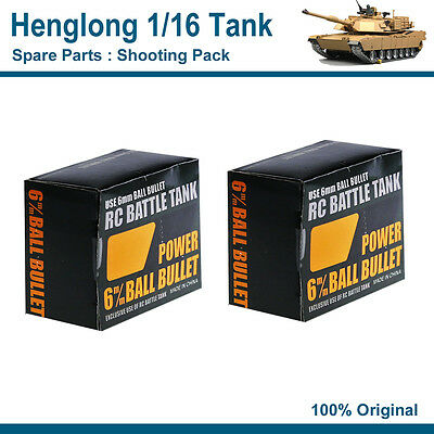 Henglong 1/16 RC Tank Spare Parts Shooting Pack TWO PACKS INCL.