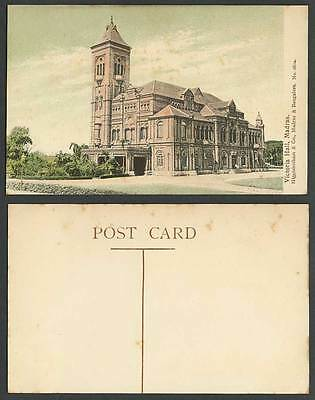 India Old Colour Postcard Victoria Hall Madras, designed by Chisholm for Empress