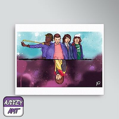 """Painting Of Netflix Series """"Stranger Things"""" [Canvas Prints]"""
