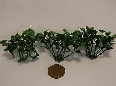 1:12 Scale 3 Bushes Plant Doll house Miniatures , Garden