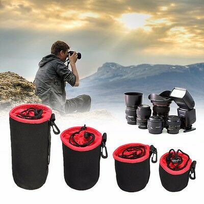 Thick Protective Neoprene Drawstring Pouch Bag Case Cover For DSLR Camera Lens