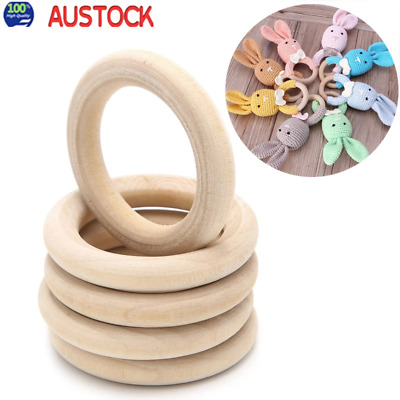 20pcs/lot Wood Rings 55mm Unfinished Wooden Rings DIY Teething Ring