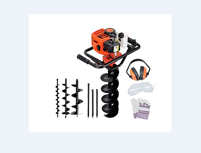 MEGA SALE NEW 88cc Petrol Post Hole Digger Earth Auger Drill Kit Set