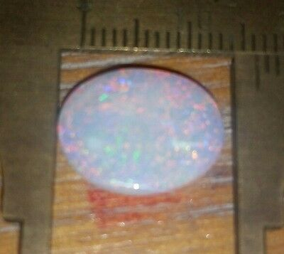 3.45 cts polished multicolor opal. Solid opal