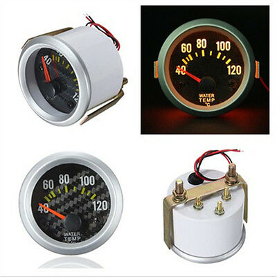 2'' 52mm Car Van Water Temp Temperature Gauge Celsius Yellow Digital LED 1/8 NPT