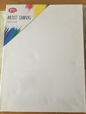 "10 pack QUALITY Blank White Artists Canvas 30cm x 40cm (16"" x 12"")"