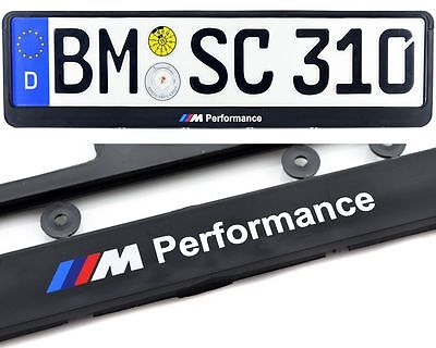 BMW M Perfomance E60 E61 F10 F11 Model License Plate Frames UK Size NEW 1Pc