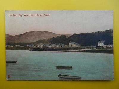 From Pier LAMLASH BAY Isle of Arran Bute *Vintage* Tucks 1910 Harbour Houses
