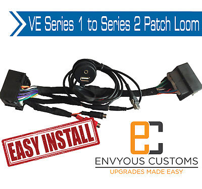 Holden Ve Series 1 To Series2 Iq Radio Patch Harness Usb Aux Cd Player Sv6 Ss