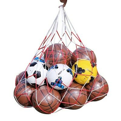 7-10 Balls Nylon Carry Mesh Net Bag-Holds Sport Basketball Soccer Storage Tools