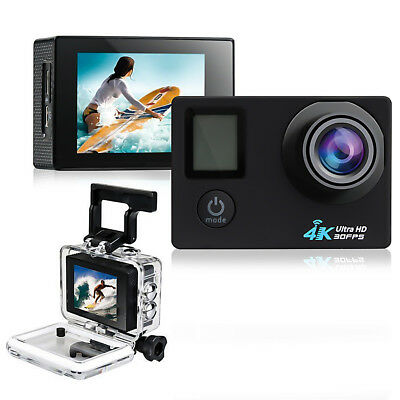 2.0'' LCD Dual Screen 170°4K HD WiFi Sports DV Action Camera With Remote Control