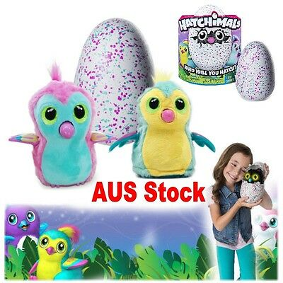 Hatchimals Draggles Interactive Pet Draggles Egg Easter Kid Toy Doll Gift In AUS