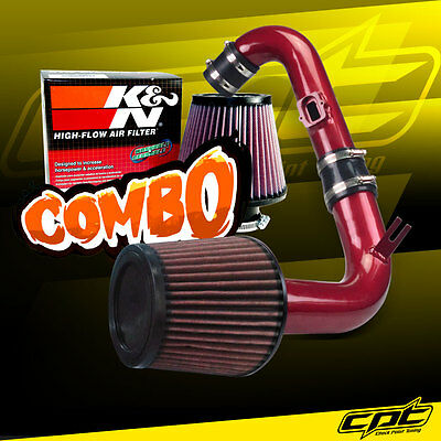 11-15 Chevy Cruze Turbo 1.4L 4cyl Red Cold Air Intake + K&N Air Filter