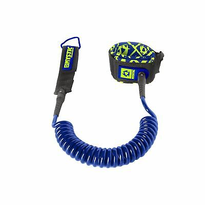 Mystic SUP Coiled Leash - 8ft or 10ft - Navy