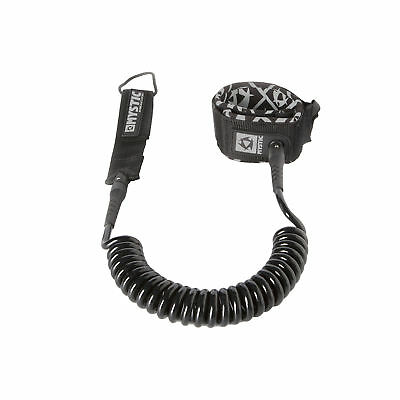 Mystic SUP Coiled Leash - 8ft or 10ft - Black