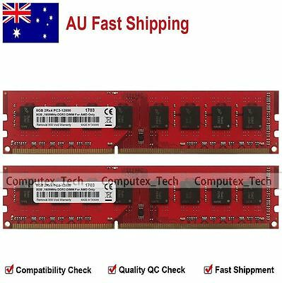 AU 16GB 2x8GB PC3-12800 DDR3-1600Mhz 240-PIN DIMM Memory For AMD CPU Chipset MB