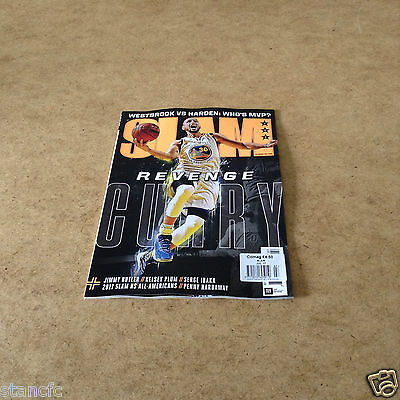 Slam Issue #209 July 2017 Curry Cover Issue Issue Nba Basketball News Poster