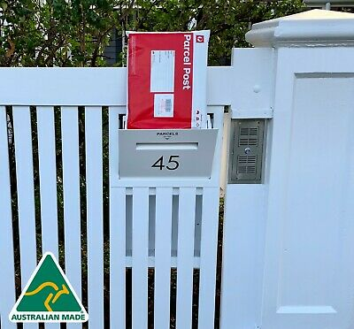 World's best parcel drop letterbox secure delivery box large fence mounted