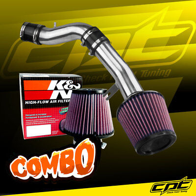 12-13 Veloster 1.6L 4cyl Non-Turbo Polish Cold Air Intake + K&N Air Filter