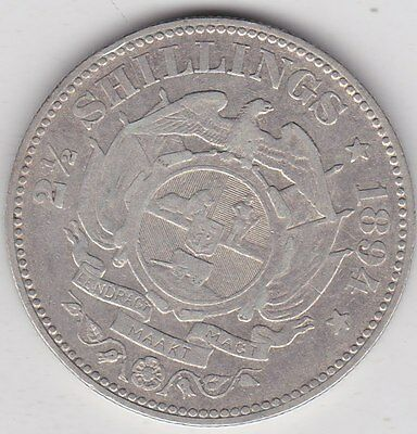 South Africa 1894 Kruger Silver Half Crown In Near Very Fine Condition