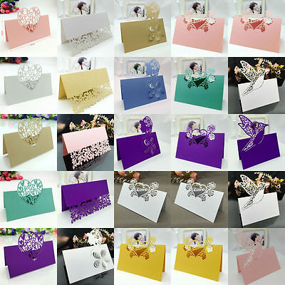 50pcs Name Place Cards for Wedding Baby Shower Game Wine Glass Card