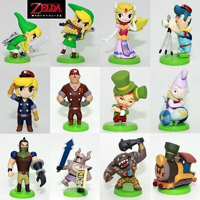 12pcs Furuta Choco Egg The Legend of Zelda Link Mini PVC Figures Play set Toy
