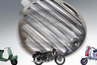 LAMBRETTA EARLY SERIES 2 POLISHED ALLOY HORN GRILL SMALL ROUND @ECs
