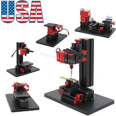 Functional 6 in 1 Jigsaw Drilling Sanding Wood-turning Lathe Milling Machine HOT