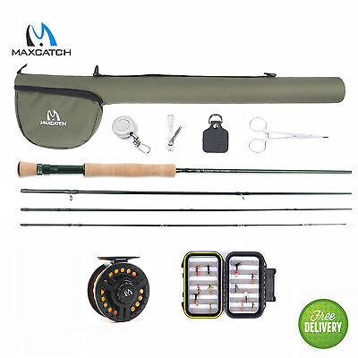 Maxcatch 7WT 9' Fly Rod Kit ,Pre-loaded 7/8WT Fly Fishing Reel Complete Outfit
