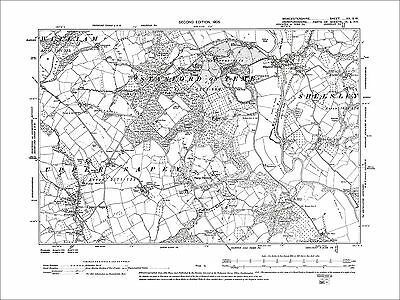 Stanford on Teme, Stamford Bridge, old map Worcs 1905: 20SW
