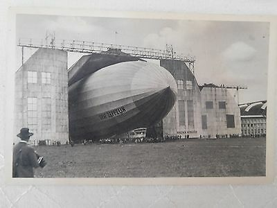 Graf Zepellin postcard, 1929 with Zeppelin cache, close-up, unposted