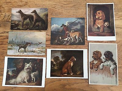 6x animals in art postcards: THE DOG