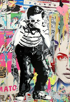 Street Art  Print Poster painting Large photo wall graffiti boy camera Australia