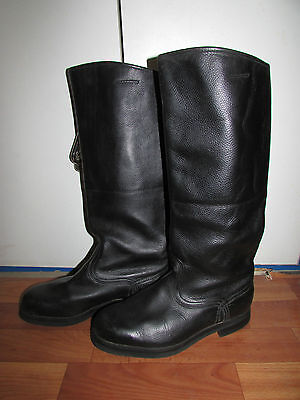 Soviet Russian size 40 juft Leather Officer Riding Boots USSR Shoe