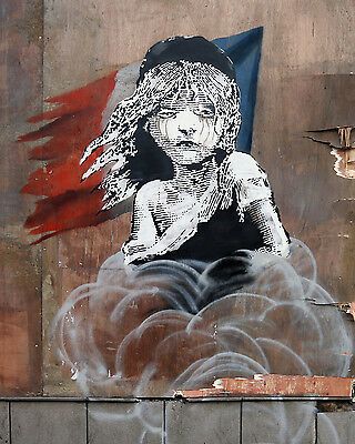 Street Art Print Poster painting Large photo graffiti Banksy France wall Paris