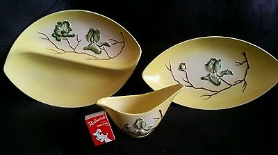 Three Carlton Ware Magnolia Pieces (Yellow)