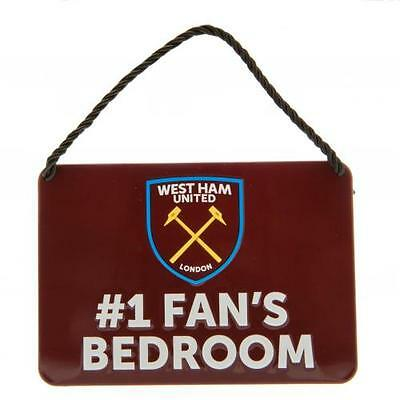 West Ham United FC Official Crested Metal Bedroom Sign No 1 Fan Present Gift