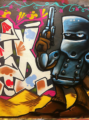 Street Pop Art Print Poster Graffiti Ned Kelly Gang Urban Australia painting
