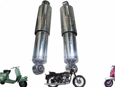 LAMBRETTA LI GP SX TV DL FRONT SHOCK ABSORBER SHOCKER DAMPER SET CHROME  @ECs