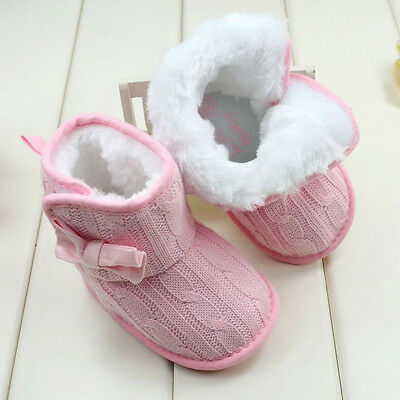 Newborn Winter Baby Girls Boys Snow Boots Toddler Crib Shoes Prewalkers 0-18M