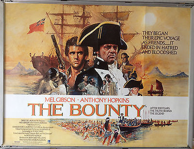 Cinema Poster: BOUNTY, THE 1984 (Quad) Mel Gibson Anthony Hopkins