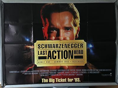 Cinema Poster: LAST ACTION HERO 1993 (Advance Quad) Arnold Schwarzenegger