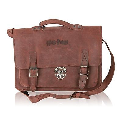 HARRY POTTER HOGWARTS Brown Leather MESSENGER BAG Satchel