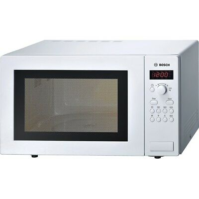 Bosch HMT84M421B Microwave in White | 25L 900W, 315mm Turntable