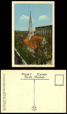 Canada Old Colour Postcard Christ Church of England Cathedral Building, Montreal
